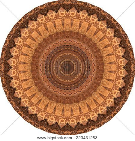 Rock Mandala brown Kaleidoscope Zen and Shamanic symbol