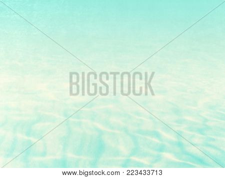 Retro water background in pastel watercolor with soft ripple texture