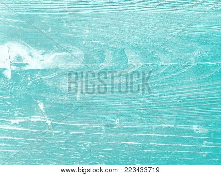 Wood background painted blue green