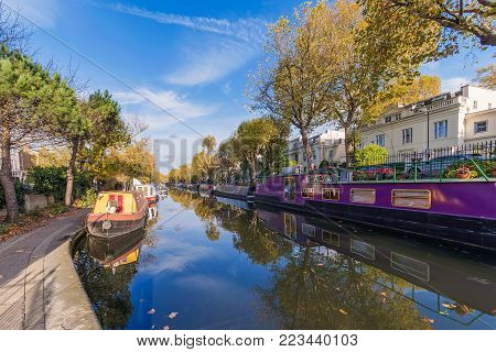 Scenic view of Little Venice in London