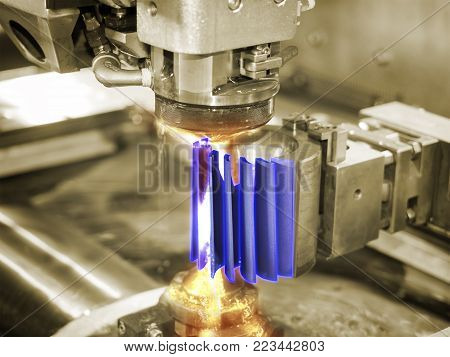 Machining Automotive Part By Cnc Turning Machine
