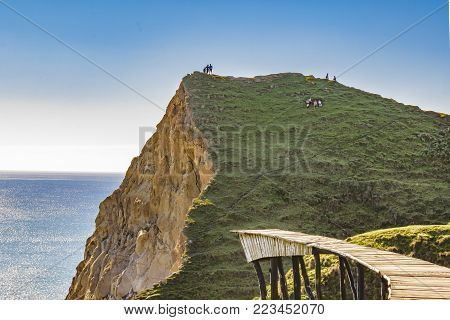 Big Rock At Pacific Ocean