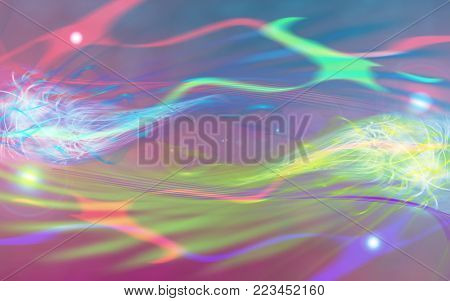 fantastic abstract background of colored flares