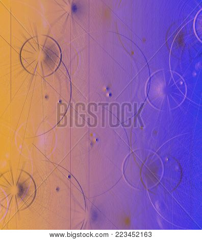 abstract blue background of the fantastic community