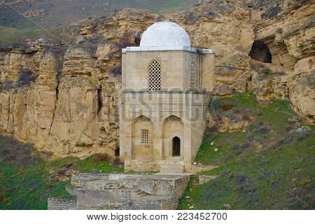 Medieval mausoleum of Diri Baba in the vicinity of the Maraza village. Azerbaijan