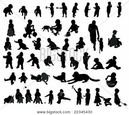 Children Silhouettes Lory.ai