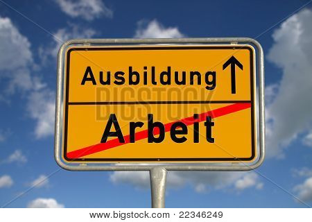 German Road Sign Work And Apprenticeship