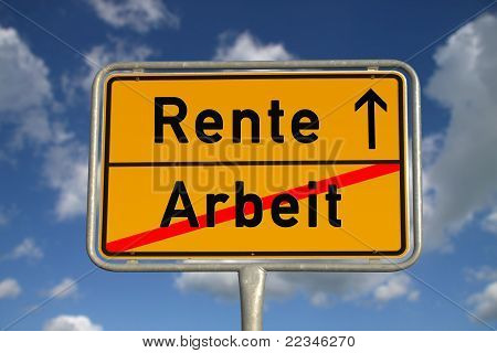 German Road Sign Work And Retirement