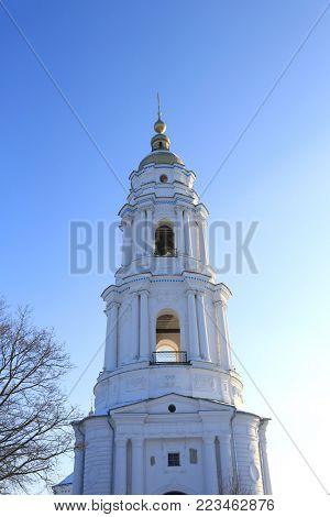 Cupola Exaltation of the Cross Monastery. Poltava City, Ukraine