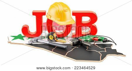 Job Vacancies in Iraq concept, 3D rendering isolated on white background