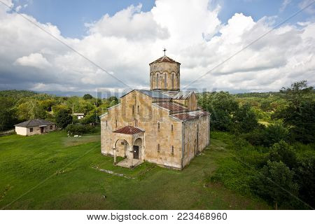 Old ancient church. Mokva Cathedral of the Assumption of the Blessed Virgin Mary built at X century