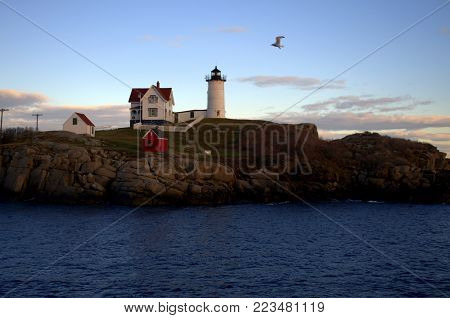 Cape Neddick Lighthouse, also known as