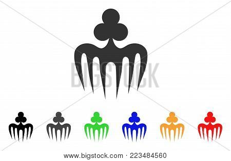 Gambling Spectre Monster icon. Vector illustration style is a flat iconic gambling spectre monster symbol with grey, yellow, green, blue, red, black color versions.