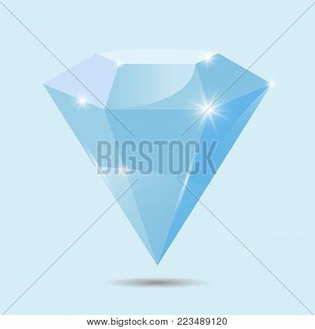 Diamond. Diamond realistic - stock vector. eps 10