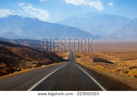 Road in the mountains of Iran. Traveling to Iran by car.