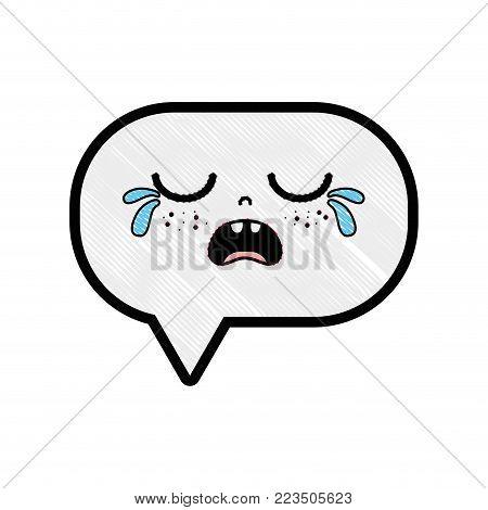 grated gaudy chat bubble kawaii cartoon vector illustration