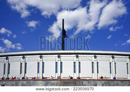 Moscow. Russia. 09 may 2016. The celebration of Victory day on Poklonnaya hill.