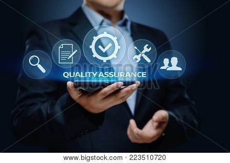 Quality Assurance Service Guarantee Standard Internet Business Technology Concept.
