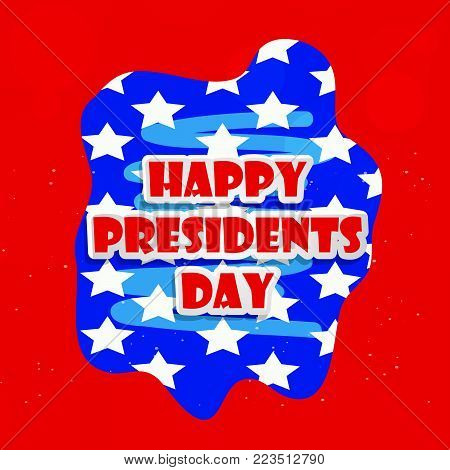 illustration of Happy Presidents Day text on the occasion of Presidents Day