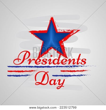 illustration of star with Presidents Day text on the occasion of Presidents Day