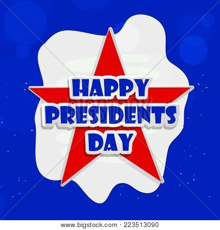 illustration of Happy Presidents Day text on star background on the occasion of Presidents Day