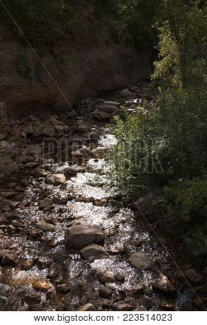 A view of South Cheyenne Creek in Colorado Springs, Colorado