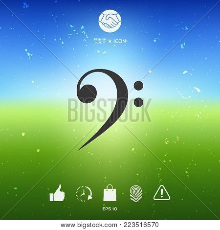 Bass clef icon. Element for your design