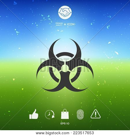 Biological hazard sign. Element for your design