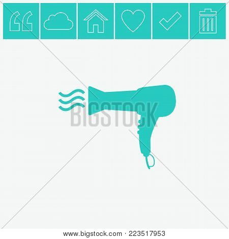 Blow dryer / Hair dryer hairdresser vector icon.