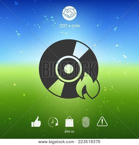 Burn CD or DVD icon. Element for your design