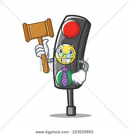 Judge traffic light character cartoon vector illustration