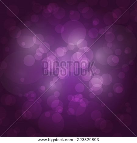 Bokeh background vector sparkling effect warm blurred festive party lights background glow design glitter shiny backdrop. Blur magic defocused xmas festive texture glowing.