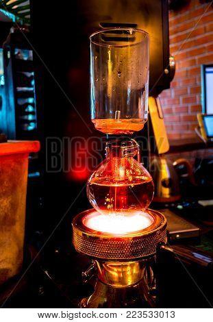 Siphon Vacuum Coffee Maker, Preparation
