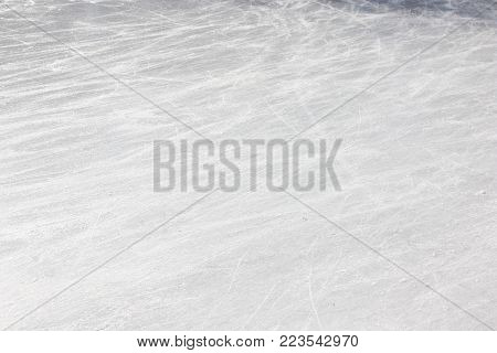 ice rink texture as background ,  abstract image