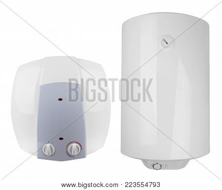 electric water heater, isolated on white background