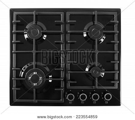 Gas stove isolated on a white background