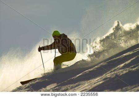 Skier On The Mountain
