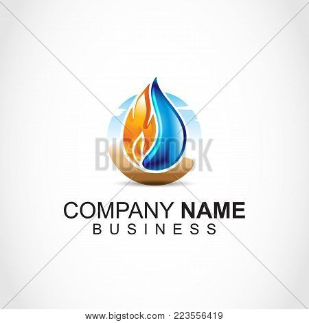 Flame logo Vector template. fire logo design graphic. torch logo Design element.