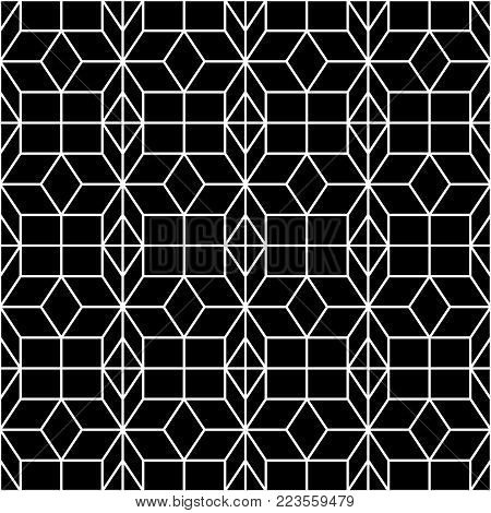 Seamless Geometric Pattern. Geometric Simple Print. Vector Repeating Texture. Islamic Pattern. Seaml