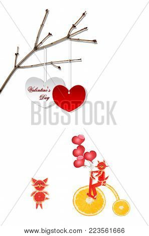 Creative valentines concept photo. Heart symbol of love or dating. St. Valentine`s Day.