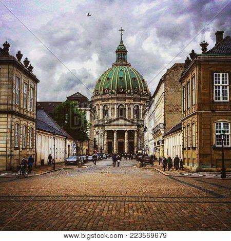 Evangelical Lutheran church in Copenhagen, Denmark / whole building