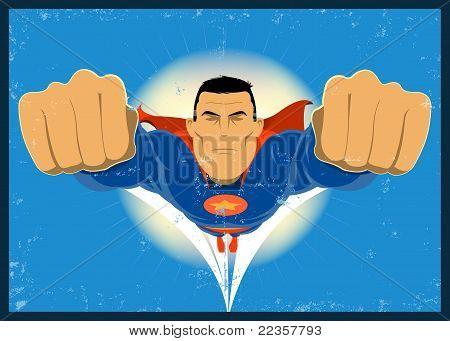 Super Hero Vintage Poster