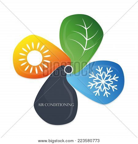 Air conditioning eco symbol for business vector