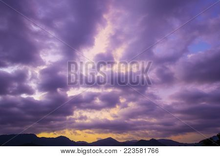 Beautiful blue cloudy sky fluffy cloudy sky background