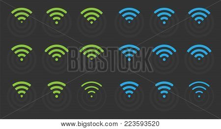 wifi signs and icons, wireless signal symbols