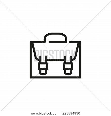 Icon of briefcase. Portfolio, suitcase, bag. Business concept. Can be used for topics like business, travel, portfolio.
