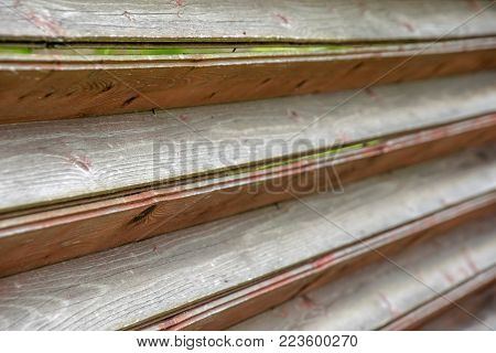 Abstract wooden fence texture closeup as a background. Shallow DOF