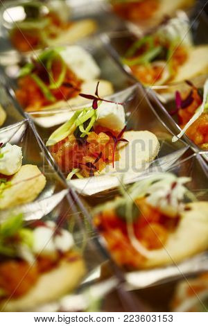 Finger Food. Closeup. The View From The Top