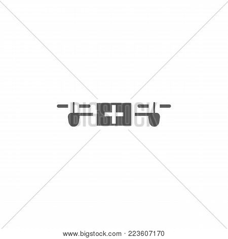 drone with medicine cabinet icon. Elements of a controlled aircraft icon. Premium quality graphic design. Signs, outline symbols collection icon for websites, web design, mobile on white background