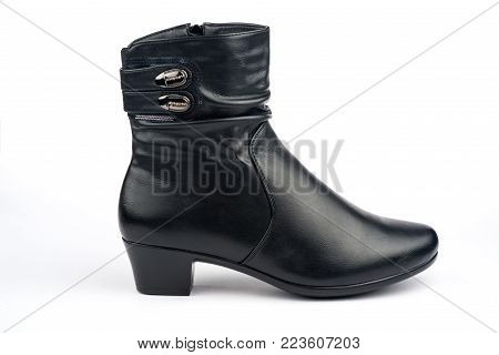 boots on a white background. womens boots. women's shoes
